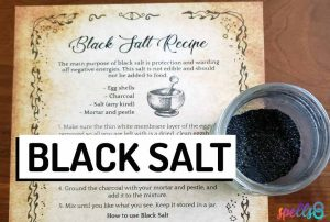 How To Make Black Witches Salt