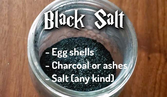 Making Black Salt with Eggs