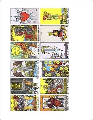 Printable Tarot Cards Mini Deck