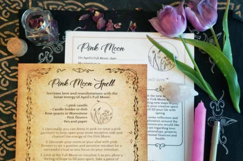Full Pink Moon: Spell & Ritual (April)