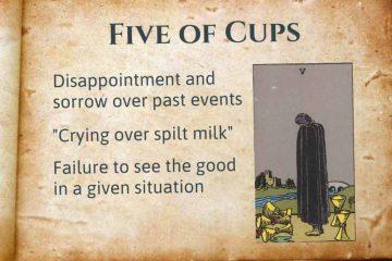 Five of Cups Tarot