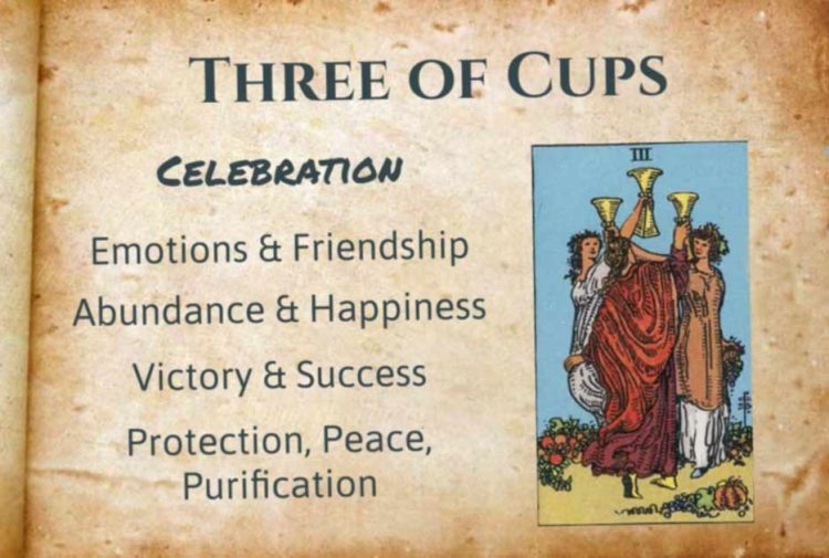 Three of Cups Tarot Meanings