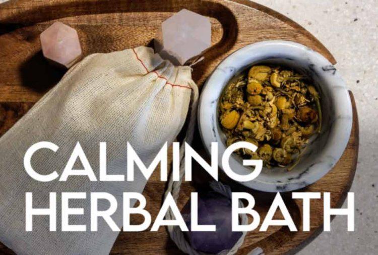Calming Herbal Bath DIY Recipe