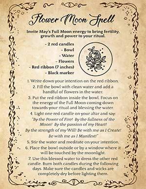 Flower Moon Ritual