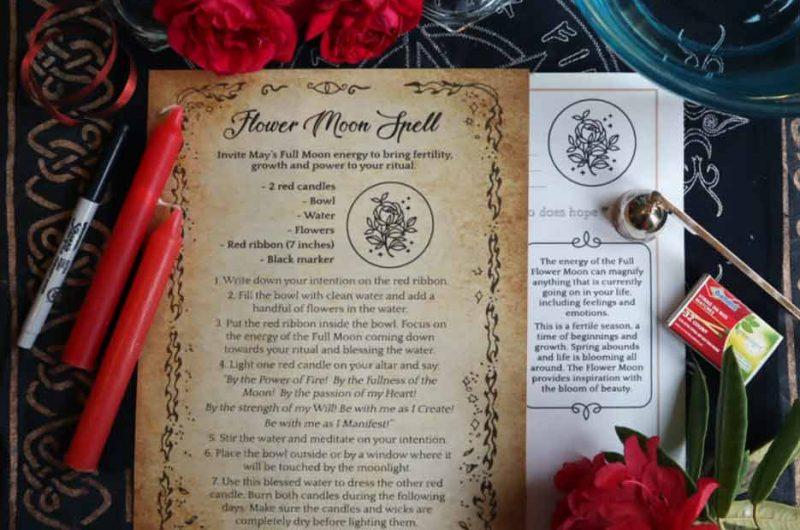 Full Flower Moon: Spell & Ritual (May)