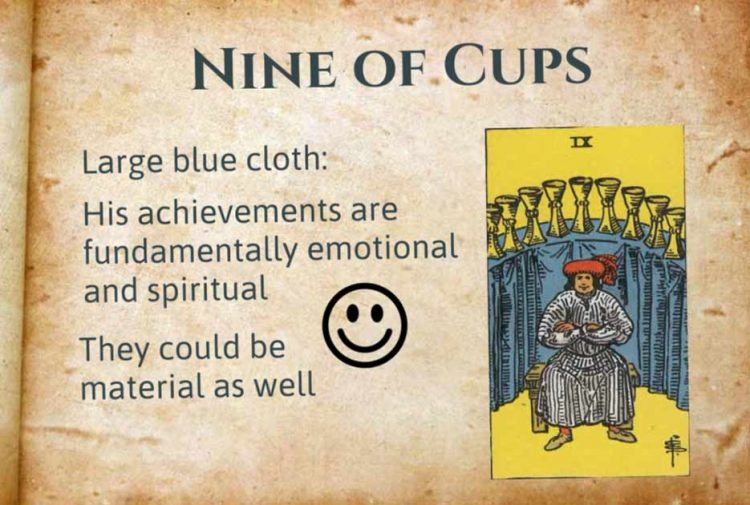 Nine of Cups Tarot Meanings