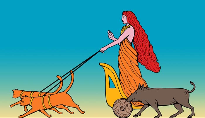 Goddess Freyja Cats