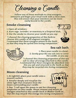 How to Cleanse a Candle