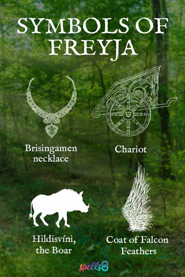 Symbols of Freyja