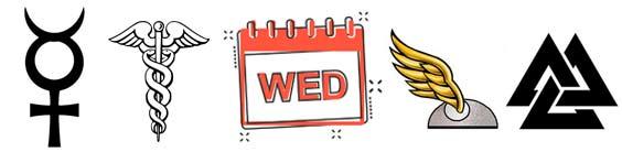 Wednesday Symbols