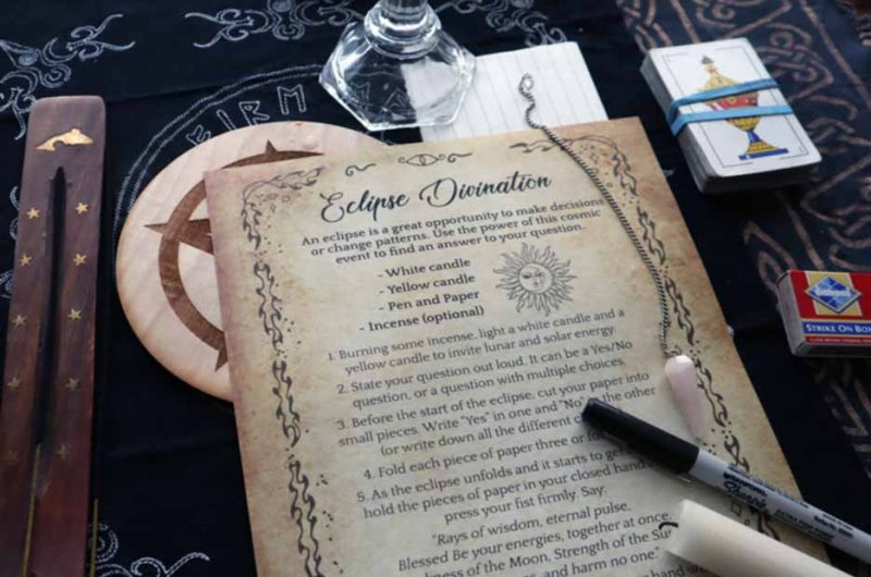 Solar Eclipse Divination Ritual and Spell