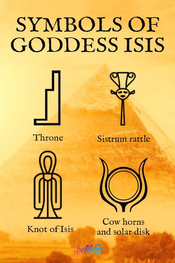 Symbols of Goddess Isis