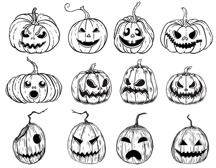 Wiccan Pumpkin Carving Patterns