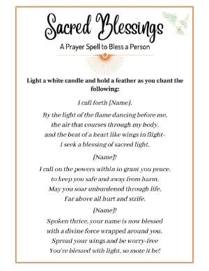 Blessing Prayer Spell