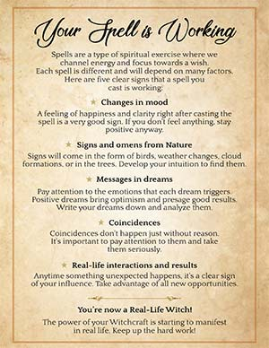 5 Signs your Spell is Manifesting
