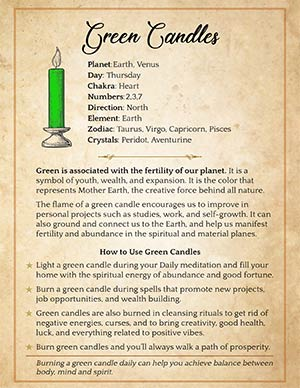 Green Candle Magic Meaning