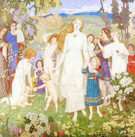 The Coming of Bride (1917) by John Duncan