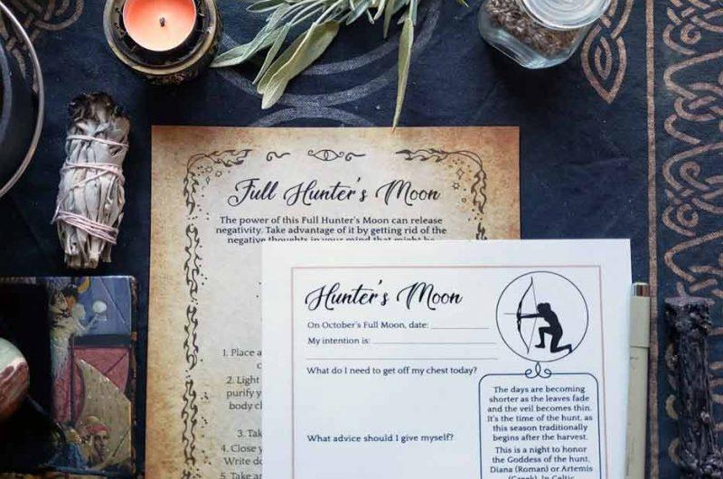 Hunter's Full Moon Ritual & Spell (October)